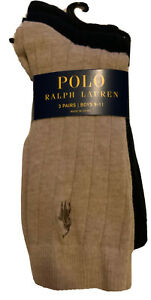 Polo Ralph Lauren NWT 3 Pr Boys Dress Socks Sz 9-11