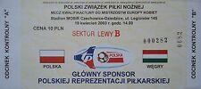 TICKET 28.3.2003 Jugend Polska Polen - Ungarn Hungary