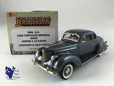1/43 BROOKLIN 211 CHRYSLER IMPERIAL EIGHT SERIES C-19 COUPE 1938 GRAY POLY