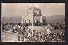 1918 real photo Vista House dedication Columbia River Highway Oregon postcard