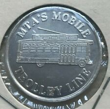 New ListingMobile, Alabama Al Mta's Mobile Trolley Line 25 Cents Transportation Token