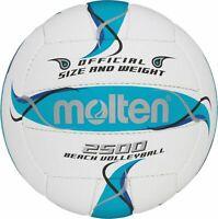 molten Beachvolleyball Trainingsball Volleyball Strandball BV2500-FBO weiß 5
