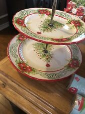 The Pioneer Woman Christmas Holiday Cheer  2-Tier Serving Tray