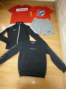 Boys Sporty Bundle PUMA Shorts & Tee ADIDAS Sweatshirt & Tee NIKE 12-13 Years +