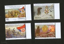 SERBIA-MNH** SET-FIRST WORLD WAR-100th ANNIVERSARY-FLAGS-MEDALS ON STAMPS-2014..