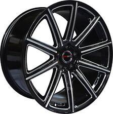 4 GWG Wheels 20 inch Black Mill MOD 20x10 Rims fits CHRYSLER 300 AWD 2005 - 2018