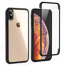 LOFTer Coque Compatible avec iPhone XS avec Protège-écran Housse Intégré en Verr
