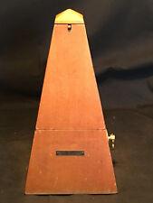 Old Vtg Seth Thomas Wood Wooden Metronome Wind-Up