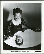 ANNE BAXTER REFLECTION in MIRROR Original Vintage 1940s PORTRAIT Photo