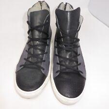 Roberto Pepe High Top Zipper Sneaker Black Shoes Size 44 (US 11)