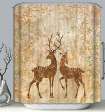 Brown Deer Fabric Shower Curtain 70x70 Rustic Country Lodge Cabin Primitive