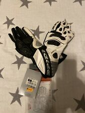 Spidi Carbo Six Motorcycle Gloves Race Sport Track Leather Armoured Medium