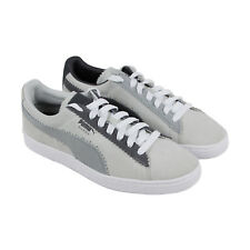 Puma Suede Classic X Michael Lau Mens White Suede Lace Up Sneakers Shoes 11 1f3955432