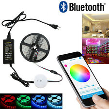 12v DIY Smart Bluetooth RGB APP LED Controller+5M RGB LED Strip Light For Phone