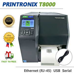 Printronix T8000 T8204 Thermal Transfer Label Printer LAN USB PTXTHH104