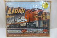 LIONEL Santa Fe Railroad Locomotive Rustic Retro Vintage Metal Train Tin Sign