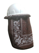 Neck Protector For Hard Hat Neck Shade Bandana Brown New Design Double Layered