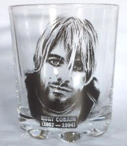 KURT COBAIN Nirvana, tumbler glass WHISKEY/FRUIT JUICE whisky GLASS