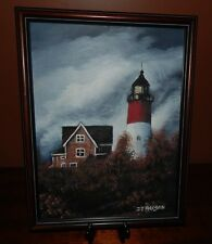 Lighthouse, Original Oil Painting, signed by the artist: J.D. Maxson. 12 x 16.