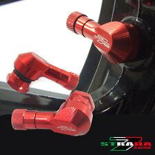 "Strada 7 83 Degree 11.3mm 0.445"" inch CNC Valve Stems Honda CBR250R 11- 2013 Red"