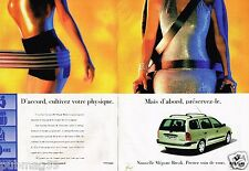 Publicité advertising 1999 (2 pages) Renault Mégane Break