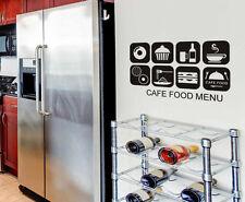 Coffee Cafe Shop Food Menu Window Stickers  Business Vinyl Sign Decal Decor Art