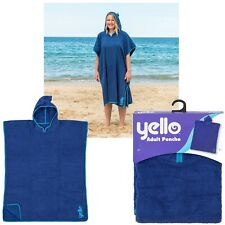 Unisex Adult Poncho Changing Robe Towel Men Women Blue Surf Swim Beach Pool