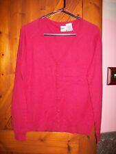 WOMENS DARK RED CARDIGAN SIZE XL