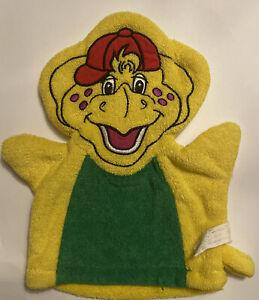 Barney The Dinosaur BJ Bath Mitt washcloth Glove Bath Hand Puppet 1997 Lyons