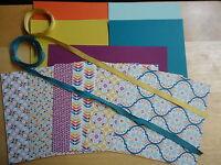 "Stampin Up! SYCAMORE STREET 6 X 6"" Designer Paper Card Kit Ribbon"