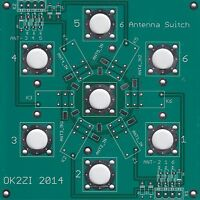 6:1 Kurzwellen Antenne Schalter Leiterplatte  N-Konnektor oder SO-239