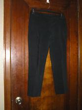 THE LIMITED CROPPED BLACK DRESS PANTS CAPRIS STRETCH POLY/COTTON SZ 6 0518