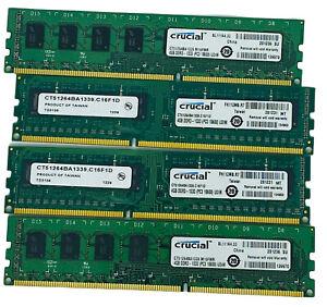 Crucial 16GB (4x4GB) DDR3 1333 (PC3-10600) CL9 UDIMM 240-Pin CT51264BA1339
