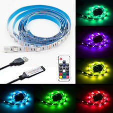 RGB LED Light Strip USB Powered with RF Remote Multi Color Change String Tape 2m