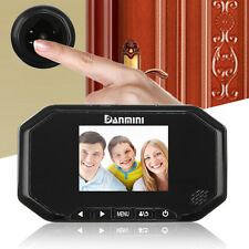 "3"" Motion Detection Door Doorbell Peephole Camera 160° Video Viewer Night Vision"