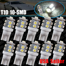 10X HID White 360°10-SMD 168 194 2825 175 906 LED Bulbs For License Plate Lights