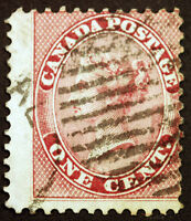 Early Canada #14b 2c Deep Rose Perf 11 3/4 1859 Queen Victoria  Used Rare