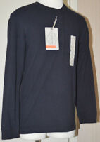 Men's St. John's Bay Navy Blue Long Sleeve Legacy Henley Top Size S, M, L, 2XL