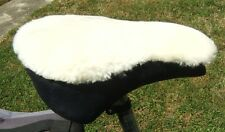 Bike Seat Cover IVORY Pure Sheepskin STANDARD (22 x 24 cm)with 25mm foam insert