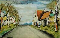 Maurice de VLAMINCK : La route - LITHOGRAPHIE Originale signée, 1958, 2000ex
