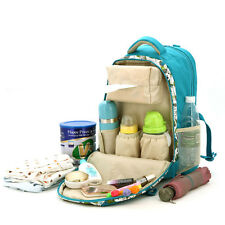 Baby Pad Diaper Nappy Changing Mother Mummy Backpack Shoulder Bag Blue Color
