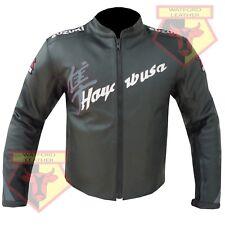 SUZUKI HAYABUSA BLACK/GREY MOTORBIKE MOTORCYCLE COWHIDE LEATHER ARMOURED JACKET