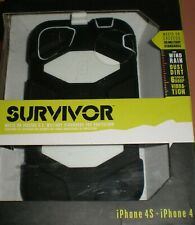 Griffin Survivor Military Rugged Case iPhone 4/4s, with clip, Black & White, NEW