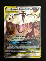 Pokemon Espeon /& Deoxys GX Tag Team SM240 Ultra Rare Standard Size Near Mint