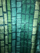 Brand New InterDesign Fabric Shower Curtain in Shades of Turquoise, Blue & Green