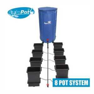 AutoPot 15L 8 Pot System with 100 Litre FlexiTank , 15 Litre Pots & 16mm Pipe.