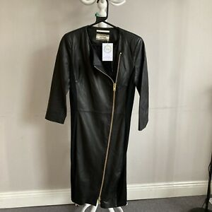 malene birger Real Leather dress With Zip Detail Size 12 ##Bel