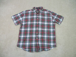 Tommy Hilfiger Button Up Shirt Adult Extra Large White Red Casual Mens 90s A71*