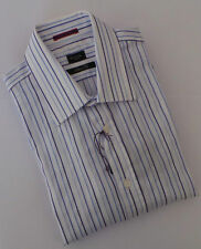 Paul Smith Shirt Size 16.5 Extra Large Sky Blue Stripes SLIM FIT LONDON RANGE