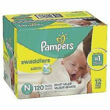 Pampers Swaddlers Disposable Baby Diapers, Newborn - 120 Count (Giant Pack)